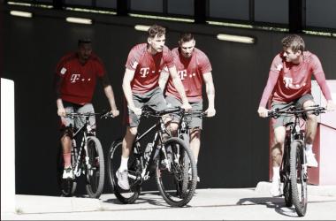Los seleccionados alemanes ya entrenan con el cuadro bávaro. Foto: @FCBayern