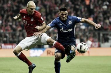 Robben e Kolasinac nel Bayern-Schalke di campionato. | Fonte immagine: Goal.com