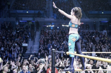 Bayley was the birthday girl in Liverpool. Photo- WWE.com