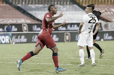 Bayron Garcés, lo rescatable del DIM en la derrota frente al Pereira