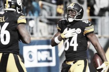 Antonio Brown and Le'Veon Bell celebrate another Pittsburgh touchdown | Source: Geoff Burke/USA TODAY Sports