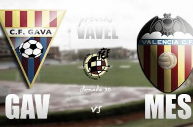 CF Gavà - Valencia Mestalla: batalla en un fortín