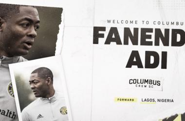 Fanendo Adi firma por Columbus Crew