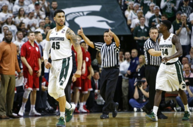 A Valentine On Valentine's Day: Michigan State Spartans Run Away From Indiana Hoosiers