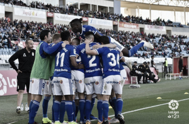 Celebración del gol de Tejera | Imagen: LaLiga 1|2|3