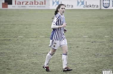 Bea Beltrán con la Real Sociedad. Foto: Giovanni Batista (VAVEL)