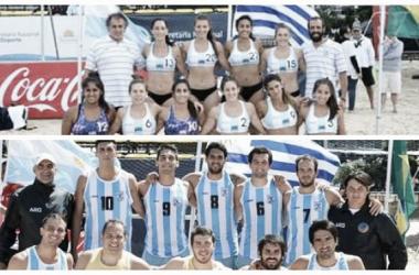 Argentina se prepara para el Panamericano de Beach Handball