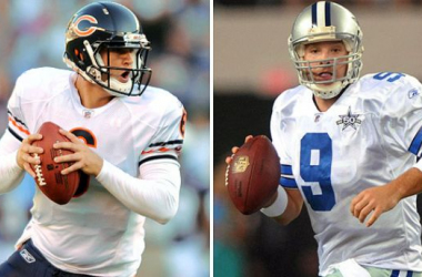 Jay Cutler(left) and Tony Romo(right) square off in Week 14 (USA Today)