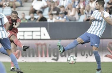 Tiro de Bebé contra el Málaga | Fuente: Rayo Vallecano S.A.D