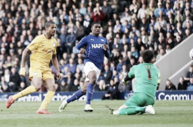 Jermaine Beckford puts the visitors in front