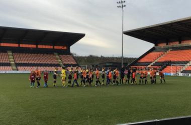 The teams shake hands before kick-off (photo: VAVEL)