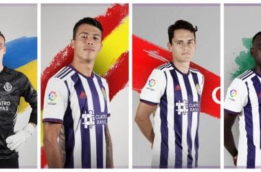Los internacionales del Real Valladolid // Foto: Real Valladolid