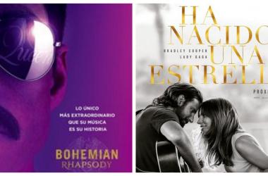 Portadas película Bohemian Rhapsody (izquierda), Ha nacido una estrella (derecha).