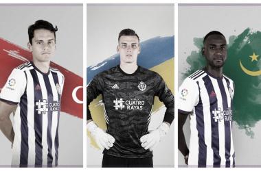 Los tres internacionales del Real Valladolid // Foto: Real Valladolid