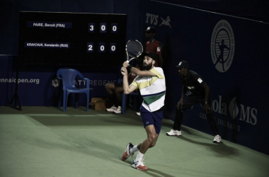 Benoit Paire in action at the Aircel Chennai Open (Photo: @chennaiopen)