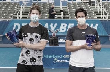 Behar y Escobar ganaron el primer título ATP de su carrera. Foto: Delray Beach Open