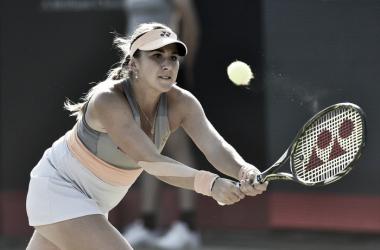 Belinda Bencic during the match. Photo: Ricoh Open Website.