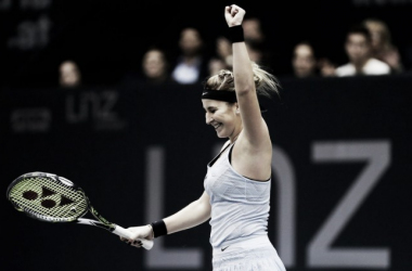 Belinda Bencic celebrates her win | Photo: Matthias Hauer / GEPA