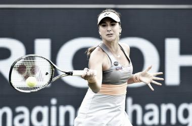 Belinda Bencic in her comeback match. Photo: Ricoh Open Website.