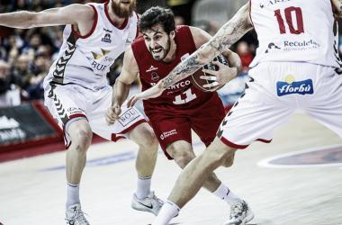 Tomás Bellas en el encuentro de la primera vuelta/ Foto: Basket Zaragoza