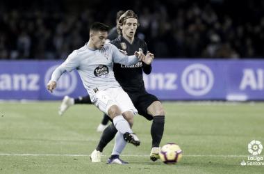 Fran Beltrán ante el Real Madrid | Fotografía: LaLiga Santander