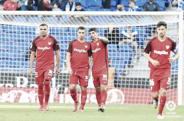 Ben Yedder celebra el 0-1. Foto: Twitter del Sevilla FC.