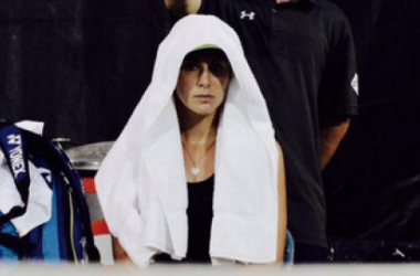 Bencic might have enjoyed her win but she did not enjoy the rain (pic courtesy of Bencic's official twitter)