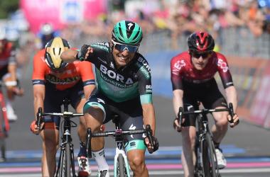 Benedetti vince a Pinerolo Fonte foto: Profilo Twitter Giro d'Italia<div><br></div>
