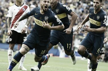 Benedetto marcou o segundo gol do Boca no jogo, aos 45 do primeiro tempo (Reprodução / BOCA JR)