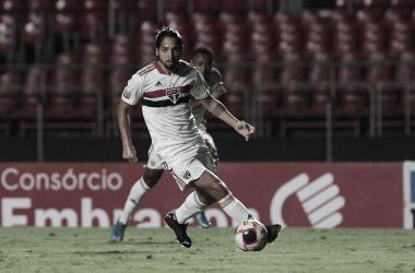 Martín Benítez está há uns jogos sem entrar em campo por causa de lesão muscular (Divulgação/São Paulo F.C)