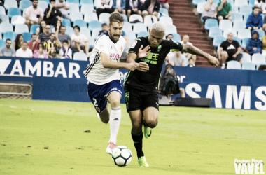 Alberto Benito y Darwin Machís en el partido de la pasada temporada en La Romareda / Foto: Andrea Royo, VAVEL