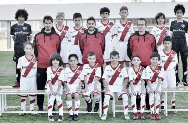 Plantilla del Benjamín B temporada 2017-2018. Fotografía: Rayo Vallecano S.A.D