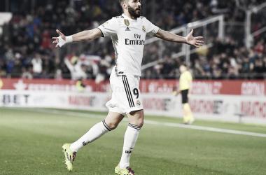 Benzema celebra el segundo gol/ Foto: Real Madrid