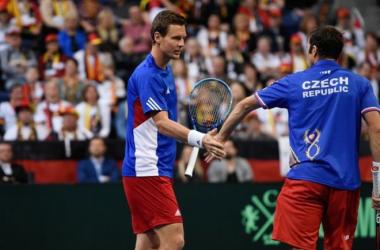 El duo checo: Berdych-Stepanek (Foto: Copa Davis)