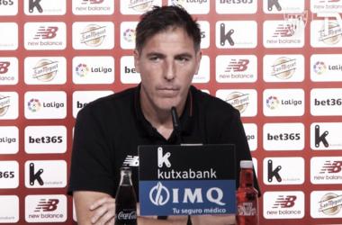 Eduardo Berizzo en sala de prensa | Fotografía: Athletic Club