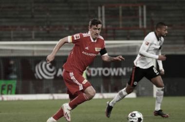 Union Berlin e Eintracht Frankfurt empatam em jogo de seis gols