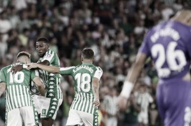 Celebración Gol de Loren. | Fuente: Onda Bética<br>