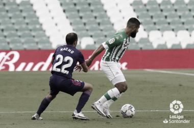 Nacho y Fekir en el Real Betis - Real Valladolid de la primera vuelta.Foto: LaLiga Santander.