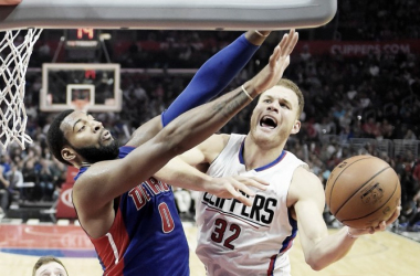 Will Blake Griffin and Andre Drummond be a deadly big man duo? Photo: AP Photo/Mark J. Terill