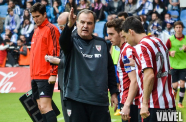Marcelo Bielsa en su etapa como entrenador del Athletic