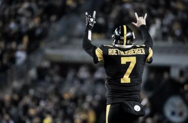 Ben Roethlisberger celebrando un touchdown (foto: www,steelers.com)