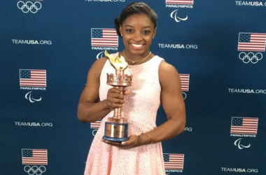 Simone Biles was named Team USA's female Olympic Athlete Of The Year. (Source: TeamUSA.org)