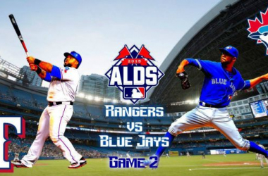 Score Texas Rangers - Toronto Blue Jays in 2015 MLB American League Division Series Game 2 (6-4)