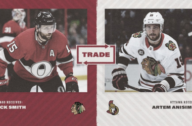Anisimov a los Senators, Zack Smith a los Blackhawks