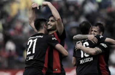 El festejo del segundo gol de San Lorenzo | Foto: Olé