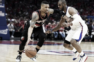 Chris Paul leads the Los Angeles Clippers over Damian LIllard and the Portland Trail Blazers in Game 1 of the Western Conference Playoffs. | Richard Mackson-USA TODAY Sports