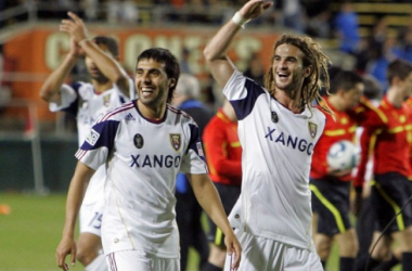 Javier Morales (Left) and Kyle Beckerman (Right) will have to dominate the midfield on Wednesday in Mexico if Real Salt Lake want to have a realistic chance of winning the first leg of the quarterfinals against Tigres UNAL in the CONCACAF Champions League