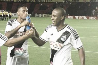 Autor do gol da Ponte Preta, atacante Borges comemora empate diante do Sport