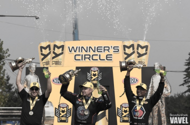 The victors in victory lane after the race on Sunday | Source: Brandon Farris - VAVEL USA
