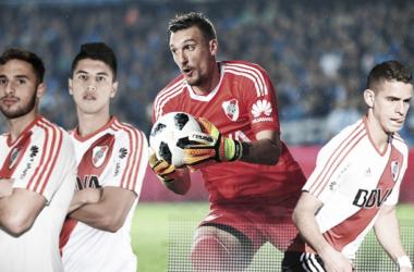 Armani, Saracchi, Palacios y Borré, los pilares de River Plate en la victoria ante Racing. FOTO: Nicolás Kralj.